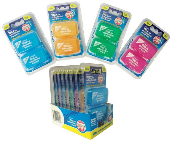piksters orthodontic wax mint twinpacks