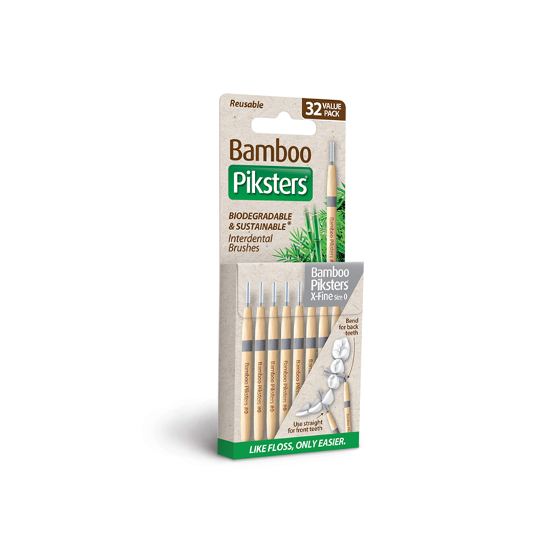 bamboo piksters ragers maat 0 / x-fine donkergrijs / 32st