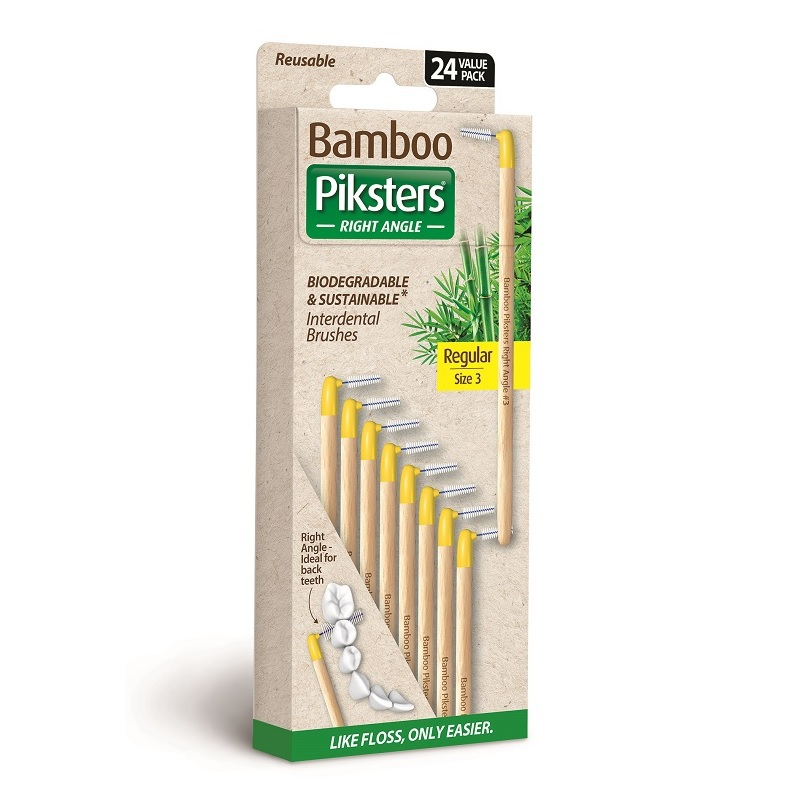 bamboo piksters ragers right angle maat 3 / regular geel / 24st